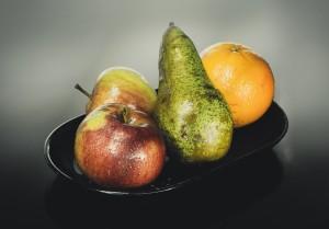 jabłka, gruszki, grejfruty